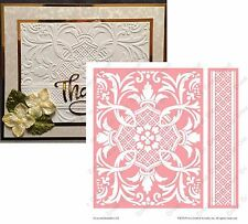 Cuttlebug Embossing folders CROWNED MEDALLION Anna Griffin Embossing folder set