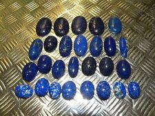 1508) 694 Karat Lapis Lazuli Cabochons geschliffen in Idar-Oberstein um 1960