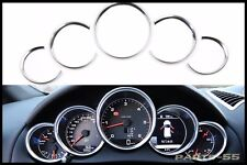 ABS CHROME INSTRUMENT PANEL GAUGE BEZEL DASH TRIM FOR PORSCHE CAYENNE PANAMERA