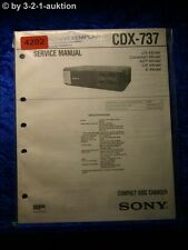 Sony Service Manual CDX 737 CD Changer (#4202)