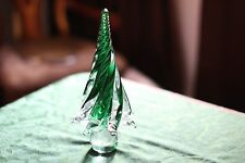 Murano Art Glass GREEN CHRISTMAS TREE - Nice Holiday Theme - **DECORATIVE**