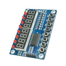 TM1638 Digitales LED Display mit 8-Tastenmodul für Arduino, Raspberry Pi New