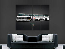 NISSAN GTR EVOLUTION SKYLINE FAST CAR SPEED RETRO WALL POSTER  PRINT LARGE HUGE