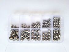 160pcs G10 Level Stainless Steel Bearings Ball Wire Rod Screw Assortment Set