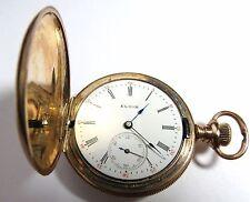 ANTIQUE 1903 LADIES ELGIN 15'J POCKET WATCH 0'S HUNTING CASE GOLD FILLED
