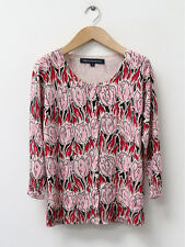 French Connection Womens Pink Tulip Print Cardigan Size M (UK 12)