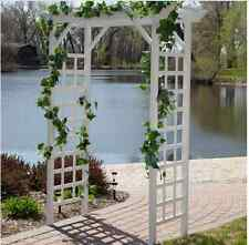 Vinyl Garden Arbor Wedding Arch Trellis Pergola White Patio Gate Gazebo Path