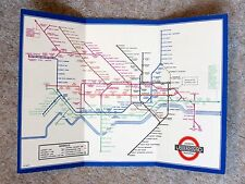 Original 1936 London Underground Pocket Map - Early HC Beck Design *MINT*