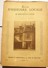 PARIS/BANLIEUE SUD-EST/REVUE D HISTOIRE ET D'ARCHEOLOGIE/NOV-DECEMBRE 1933