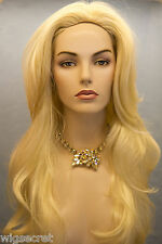 Long Blonde Brunette Red Straight Skin Top Wigs
