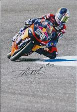 Danny KENT SIGNED Red Bull MOTO2 MOTOGP AUTOGRAPH 12x8 Photo AFTAL COA In Person