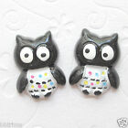 "US SELLER 10pc x 1"" Resin Baby Owl Flatback Beads/Halloween for Card/Bows SB187B"