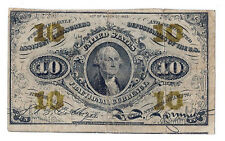 Act of March 3rd 1863 U.S. Ten Cents Fractional Currency. Avg. Circualated!
