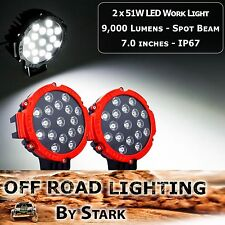 51W 7.0 inch High Performance LED Work Light Spot 4WD Boat Offroad 9,000Lm (A)