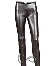 Brand New Women's Faith Connexion Silver Leggins Lambskin Size L.Free Shipping!