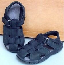 "TODDLER BOY'S SZ 9 NAVY BLUE LEATHER STRIDE RITE ""ANGLER"" FISHERMAN'S SANDALS"