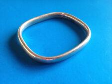 Moderniste Bracelet Rigide Rectangulaire Argent 835 / Modernist Silver Bracelet