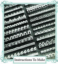 Vintage Visage crochet pattern-How to make 23 pretty narrow crochet lace edging