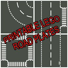 "LEGO 8.5""x11"" Printable Road Plate Standard Dark Gray PDF on CD New style"