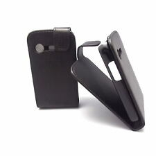 For Samsung Ch@t 222 GT E2222 E2220 Chat Leather Case Cover Pouch,Black