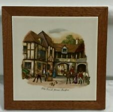 Old Coach House STRATFORD Hot Dish Trivet Creations by Deede- Excellent!