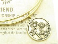 Wind and Fire Friends Gold Charm Wire Bangle Stackable Bangle Bracelet USA Gift