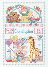 BIRTH RECORD FOR BABY 13650 Counted Cross Stitch Kit Giraffe Humpty Dumpty NEW