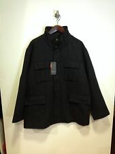 Ben Sherman Heringbone Wool Mix Coat/charcoal 4XL