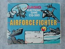 CASIO ELECTRONIC GAME CG-380 AIRFORCE FIGHTER - GAME & WATCH CONSOLE LCD SCREEN