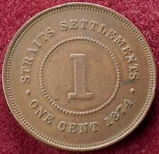 Straits Settlements 1 Cent 1874 (C0701)