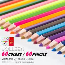 COLLEEN NEON 775 SET 60 PCS PIECE 60 COLOR COLOUR PENCILS DRAWING SKETCH KID ART