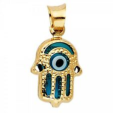 14K Yellow Gold Evil Eye Hamsa Pendant GJPT1718