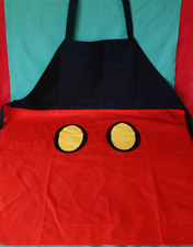 DISNEY PARKS MICKEY MOUSE ADULT APRON NEW MICKEY BODY PARTS RED SOUVENIR APRON