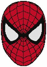 Counted Cross Stitch Pattern, Spiderman Face - Free US Shipping