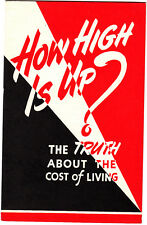 How High Is Up? Cost Of Living World War II 1941-44 Prices Vintage Booklet