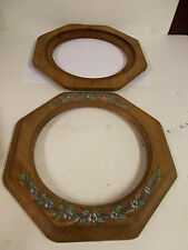 """Handmade wood, hand painted  Photo Picture Frame-For round 8"""" Picture- no glass"""