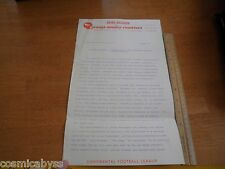 Orange County Ramblers Continental Football League 1968 press release letter