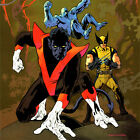 AMAZING X-MEN #1 ART PRINT Kevin Nowlan SIGNED Nightcrawler WOLVERINE 17x11