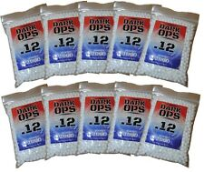 10000 Dark Ops Airsoft BBs .12g 6mm - Perfect Spherical Sniper Rifle Pistol Ammo