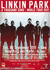 "LINKIN PARK ""A THOUSAND SUNS:WORLD TOUR 2011"" HONG KONG CONCERT POSTER-Alt. Rock"