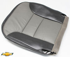 2000 Chevrolet Tahoe Z71 4x4 Driver Side Bottom Leather Seat Cover 2-Tone Gray