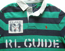 NEW POLO RALPH LAUREN CUSTOM FIT RIVER THEME RUGBY SHIRT size SMALL- msrp $145