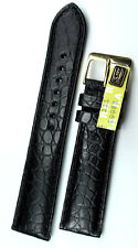 20mm / 18mm ECHT Kroko Germany ALLIGATOR BAND STRAP feine Maserung UHRENARMBAND