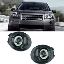 DRL COB Angel Eyes Fog lights Projector Lamp Bumper For Land Rover Freelander 2