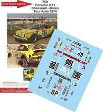 DÉCALS 1/18 réf 762 Porsche 2.7l Chasseuil Tour Auto 1974