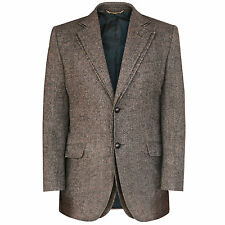 DOLCE & GABBANA double layered lapel brown wool tweed runway blazer jacket 38/48