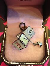 Juicy Couture Chinese Takeout Box Charm Bracelet RARE SILVER