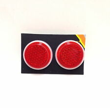 "TWO (2) SUNLITE 1"" Mini Red ReflectorS w/ Wing Nut Bike Bicycle Safety NEW"