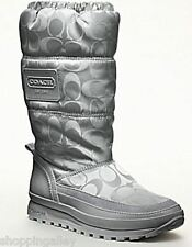 New in Box Coach Demure A7012 Mid Winter Boots Waterproof Nylon Grey 8.5 Shoes