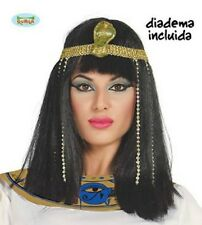 Egyptian Princess WIG & HEADPIECE Queen of Nile Cleopatra Women Fancy Dress